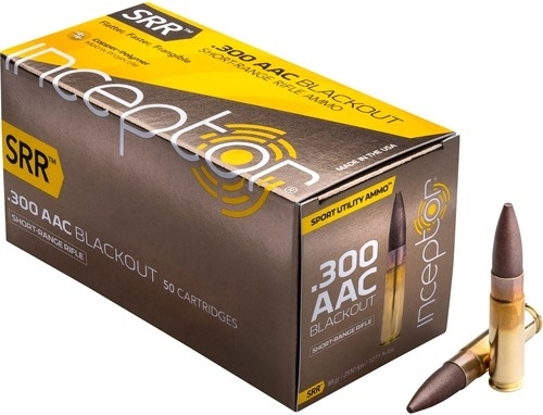 300 AAC BLACKOUT QUANTUM INCEPTOR AMMO, 88GR SRR™, 50RD BOX