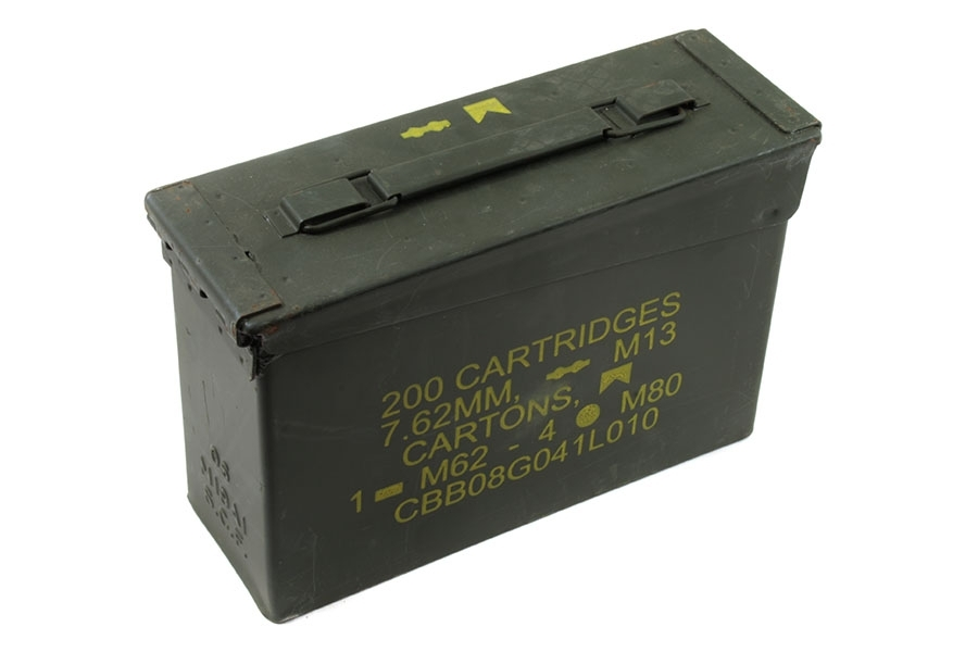 Ammo Can, 30cal, USGI, Steel, Used.