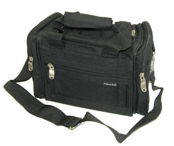 "Three Peaks Range Bag, Black, 10""x5"" Small Size."